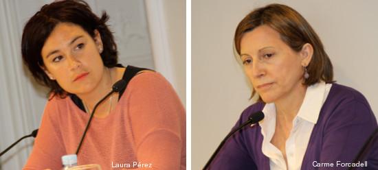 Laura Perez y Carmen Forcadel