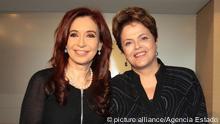 Cristina Fernández de Kirchner y Dilma Rousseff /F. Agencia Estado