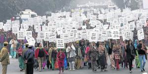 Una nueva marcha de protesta en Nueva Delhi tuvo lugar el 2 de enero, Foto Reuters