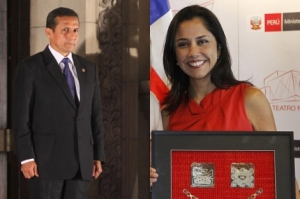 Ollanta Humala y Nadine Heredia. Foto: Efe