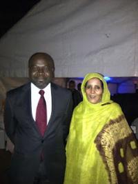 Suelma Beiruk con el presidente UA