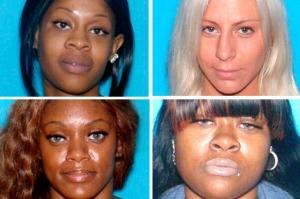 La cuatro sospechosas: Keshia, Ryan, Subhanna y Johnnina