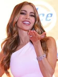 La modelo y actriz colombiana Sofía Vergara, que tuvo cáncer de tiroides, ha sido portavoz de varias campañas  para tratar la enfermedad. Foto: EFE en español