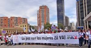 Ayer en Bogotá, la marcha por la paz