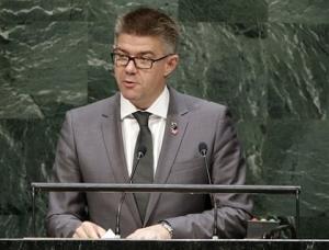 Gunnar Bragi Sveinsson, ministro de asuntos exteriores de Islandia, anunció para enero una conferencia sobre la igualdad de los sexos a la que solamente asistirán varones. (AP Foto/Seth Wenig)