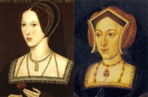 Descripción: A la derecha, óleo anónimo del que se creía la más fiel representación de la reina (The National Gallery London). A la izquierda, el retrato de Nidd Hall, que representaría a la auténtica Ana Bolena.