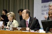 Hillary Clinton y Ban Ki-moon. Foto de archivo:ONU /Eskinder Debebe