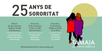 cartel de actividades de Tamaia
