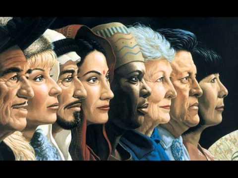 Imagen de perfiles raciales